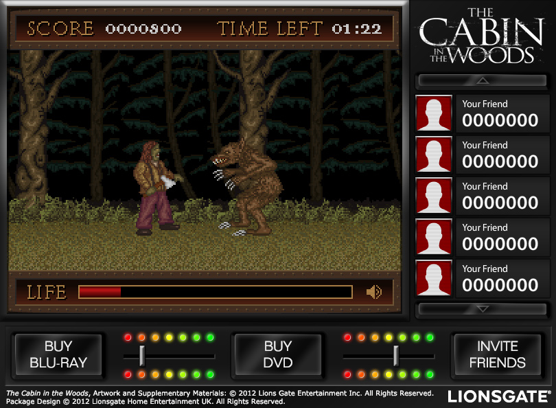 The Cabin in the Woods Custom Facebook Game
