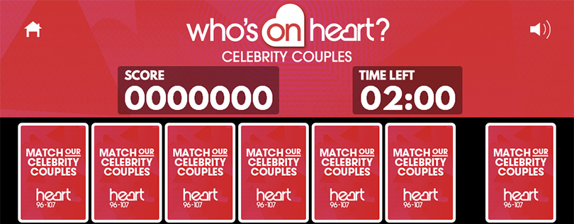 Who's on Heart Facebook Game